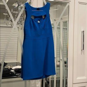 Body con blue dress